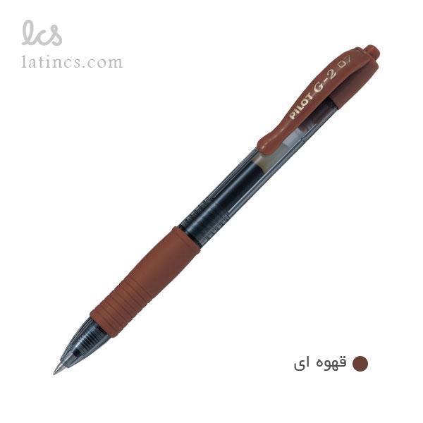 pilot-pens-g2-brown