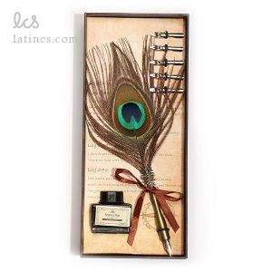ست کالیگرافی قلم پر طاووس