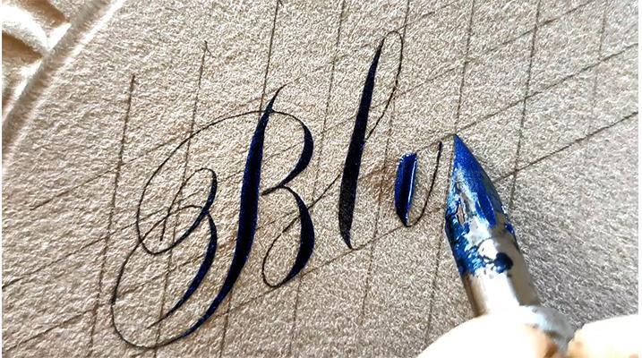 خوشنویسی کلمه blue