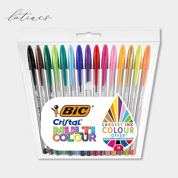 خودکار بیک ۱.۶ میلی متر کریستال ست ۱۵ رنگ