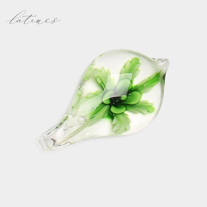 قلم شیشه ای گل سبز